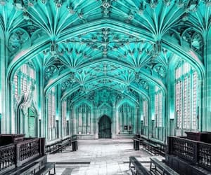 architecture, cyan, and hospital image