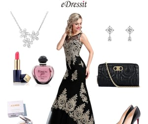 fashion styles, trumpet evening dress, and lace prom gown image