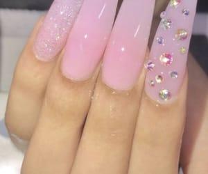 nails, nail design, and lightpink image