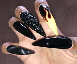 nails, stiletto, and wicked image