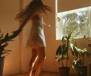 girl, plants, and aesthetic image