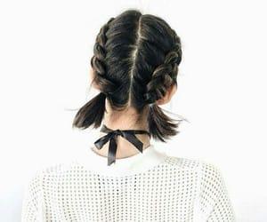 braids, pretty, and hair image