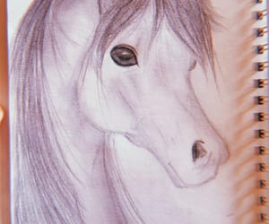 draw, horse, and drawing image