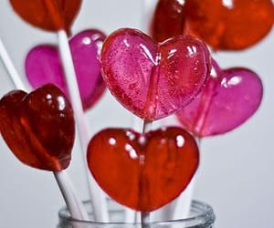candy, lollipop, and valentines day image