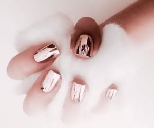 nails, pretty, and rose gold image