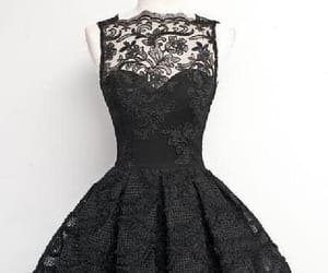 vintage prom dresses, lace homecoming dress, and black homecoming dress image