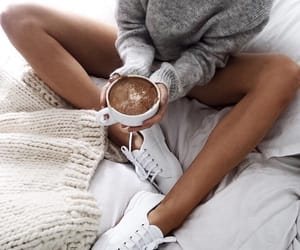 autumn, comfy, and bed image