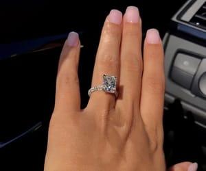 diamond, nails, and girl image