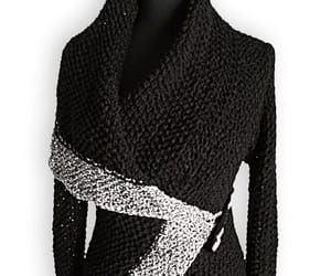 black sweater, etsy, and knitwear image