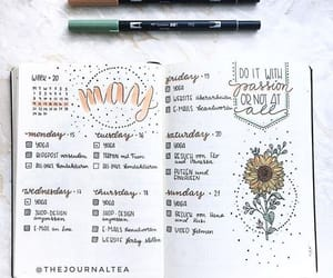 aesthetic, spread, and bujo image