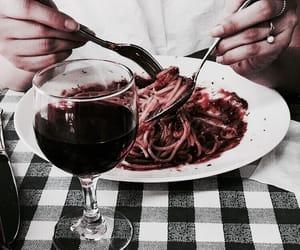 drinks, italian, and pasta image