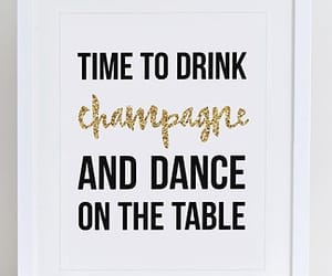 and, champagne, and drink image