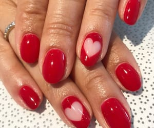 hearts, nails, and red image