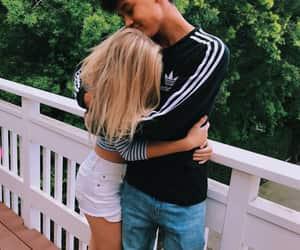 adidas, blonde, and boyfriend image