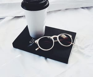 black and white, style, and coffee image