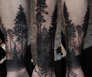 forest, arm, and tattoo image