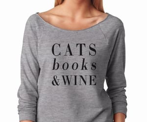 books, cats, and cool image