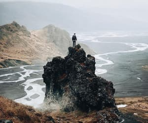iceland, ocean, and stone image