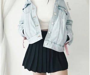 asian girl, blue, and tshirt image