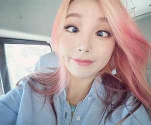 funny, korean girl, and pink hair image