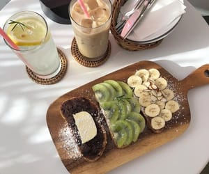 aesthetic, banana, and beverages image