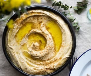 hummus, recipe, and vegan image