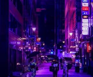 japan, purple, and street image