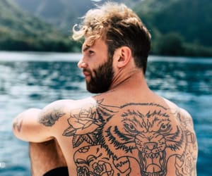 beach, Tattoos, and boys image