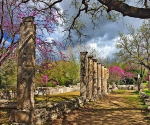 ancient, olympia, and spring image
