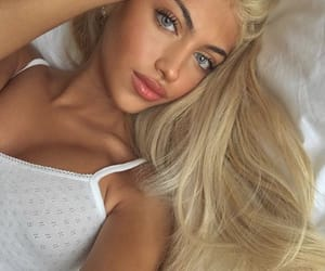 beuty, blond girl, and fashion image