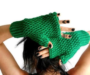 etsy, gloves women, and women knit gloves image