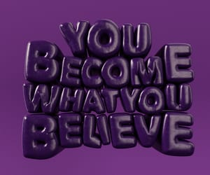 3d, purple, and quotes image