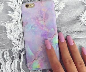nails, case, and pink image