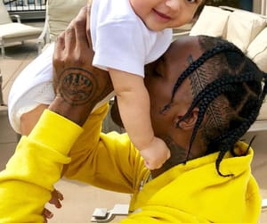 dad, kylie jenner, and stormi image