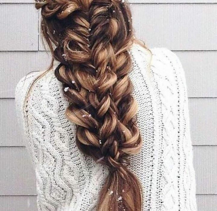 braid, brown, and beauty image