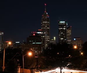 buildings, night, and indianapolis image