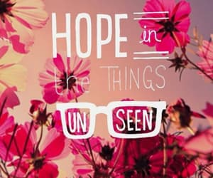 hope, flowers, and quotes image