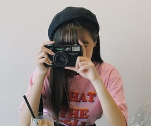 asian, camera, and female image