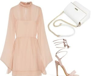 dress, heels, and Polyvore image