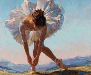 art, painting, and dance image