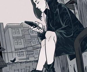 raven, art, and black image