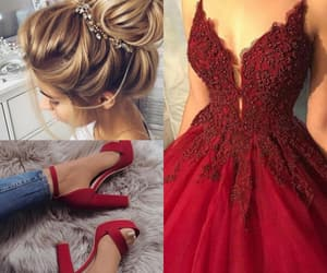 dress, hair, and moda image