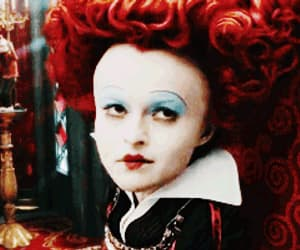 alice in wonderland, queen of hearts, and gif image