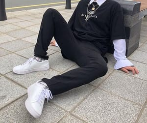 boy, style, and black image
