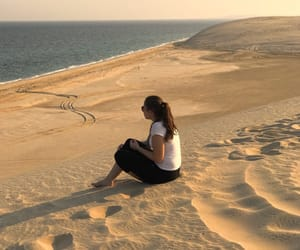 desert, girl, and doha image