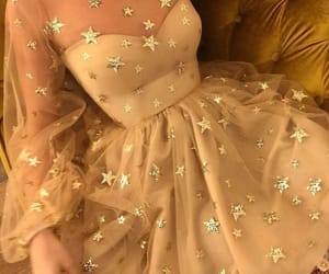 dress, stars, and fashion image