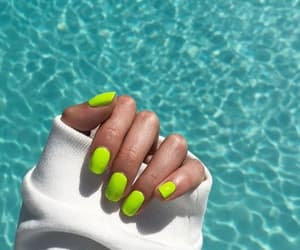 girly, nails, and neon image