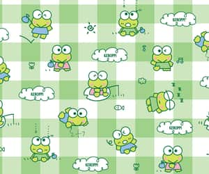 frog, green, and keroppi image