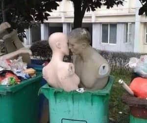 art, garbage, and girl image