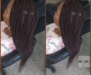 braids, box braids, and black hair styles image